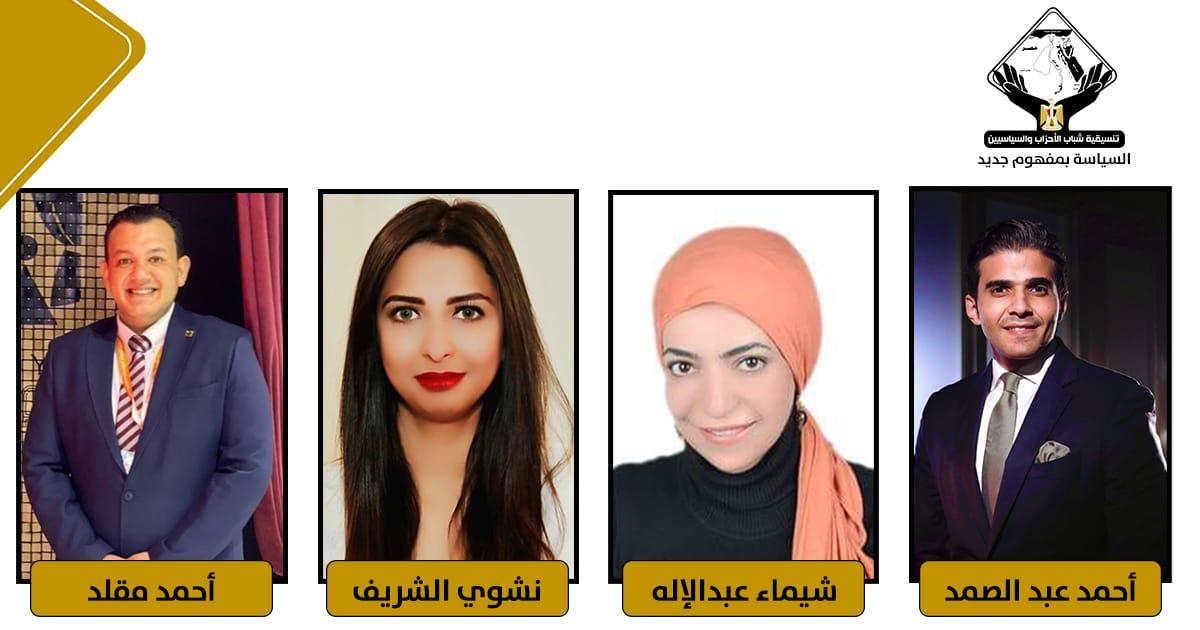 كوادر تنسيقية شباب الأحزاب والسياسيين في المجلس الأعلى للصحافة والإعلام