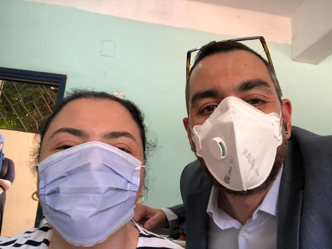 سيلفي النائب محمد فؤاد مع شقيقته دينا بعد انتخابات مجلس الشيوخ