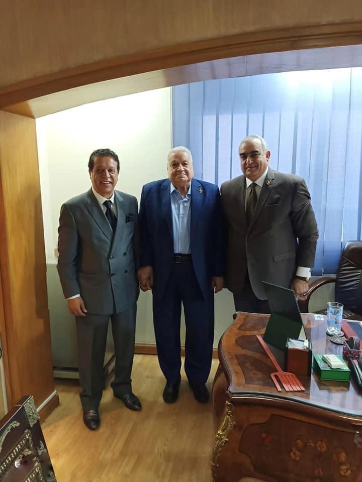 النائب محمد المسعود مع الفريق جلال هريدي رئيس حزب حماة وطن بعد الانضمام للحزب