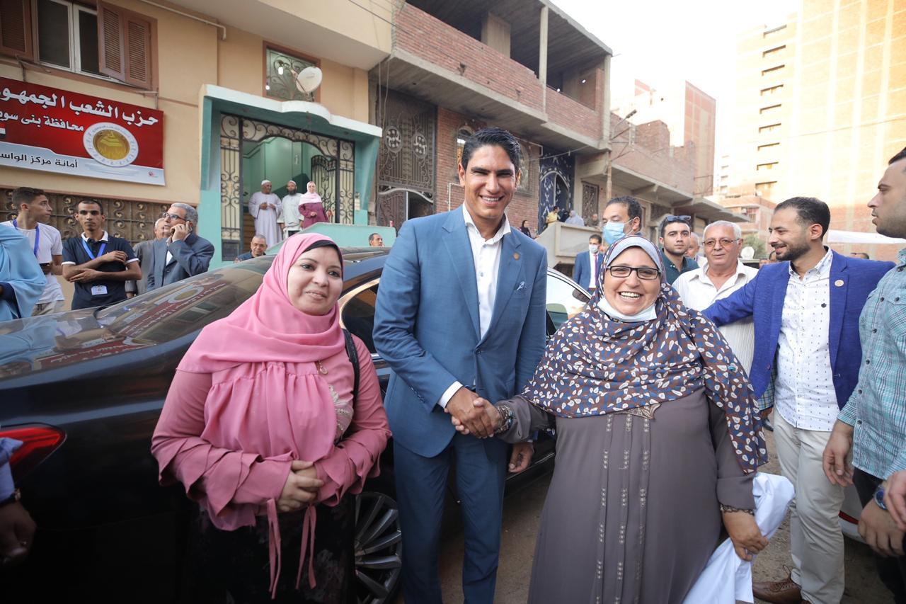 أحمد أبو هشيمة يفتتح مقر حزب الشعب الجمهوري في الواسطي ببني سويف