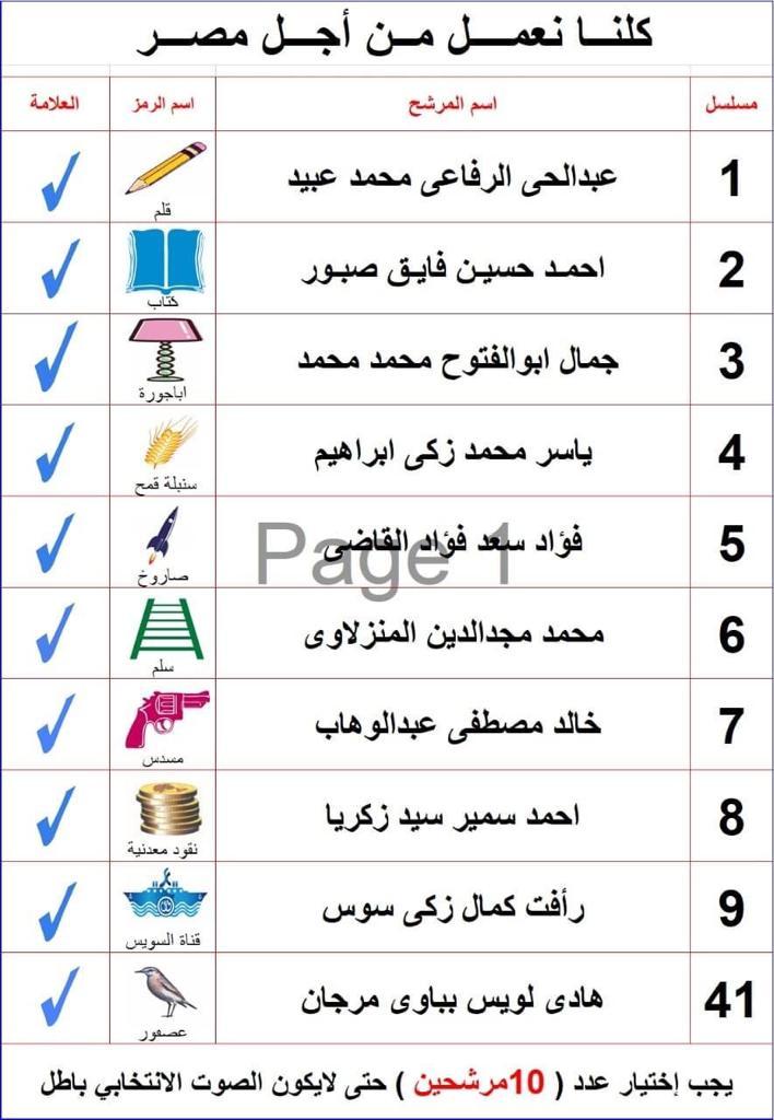 """أسماء الـ10 المبشرين ب""""جنة"""" الفردي ب""""الشيوخ"""" في القاهرة"""