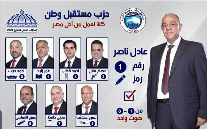 أسماء الـ8 الأقرب للفوز بمقاعد الفردي في انتخابات مجلس الشيوخ بالجيزة