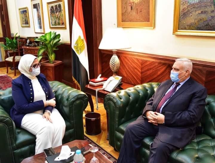 اجتماع وزيرة الهجرة ورئيس الهيئة الوطنية للانتخابات