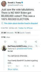 تدوينة ترامب