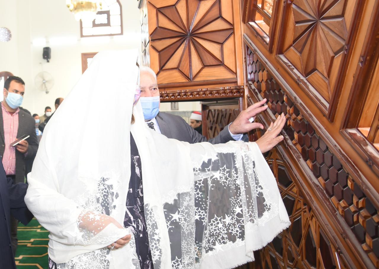 نبيلة مكرم وزيرة الهجرة ووزير الأوقاف محمد مختار جمعة وأسامة العبد رئيس اللجنة الدينية بمجلس النواب