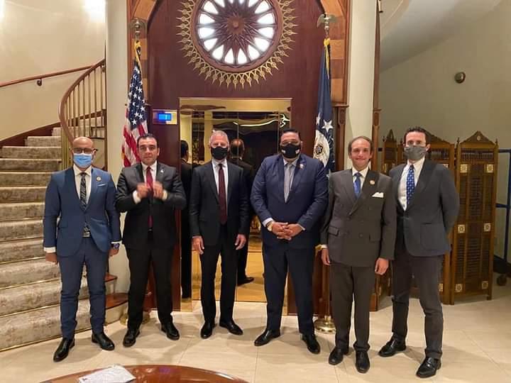 اجتماع السفير الأمريكي مع أعضاء مجلس الشيوخ من تنسيقية شباب الأحزاب والسياسيين